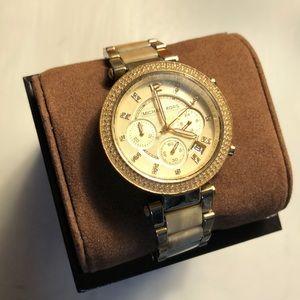Michael Kors 'Parker' Chronograph Goldtone Watch💛